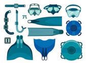 Set di attrezzatura da apnea