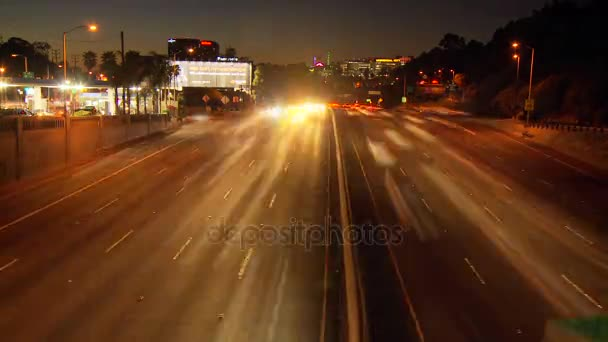 night lights la road timelapse