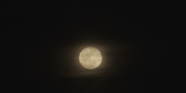 moon at night timelapse