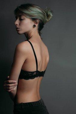 Attractive girl in bra