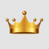 Fotografie Golden Crown With Gradient Mesh