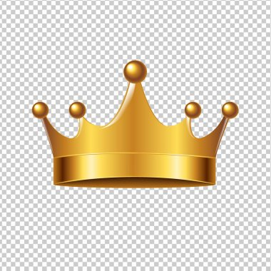 Golden Crown With Gradient Mesh
