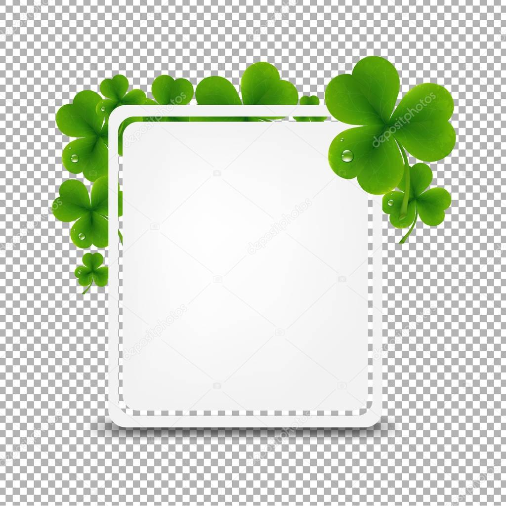 Banner With Green Clover