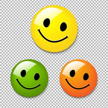 Smiley Color Buttons