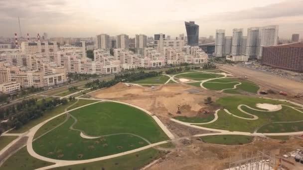 Půdorys stavby chůze park v nové sousedství moderního města