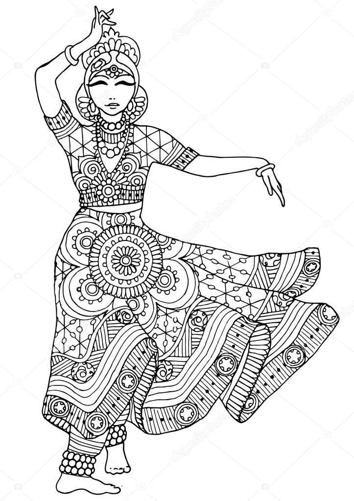 Imágenes: bailarinas arabes para pintar | Bailarín indio en un ...