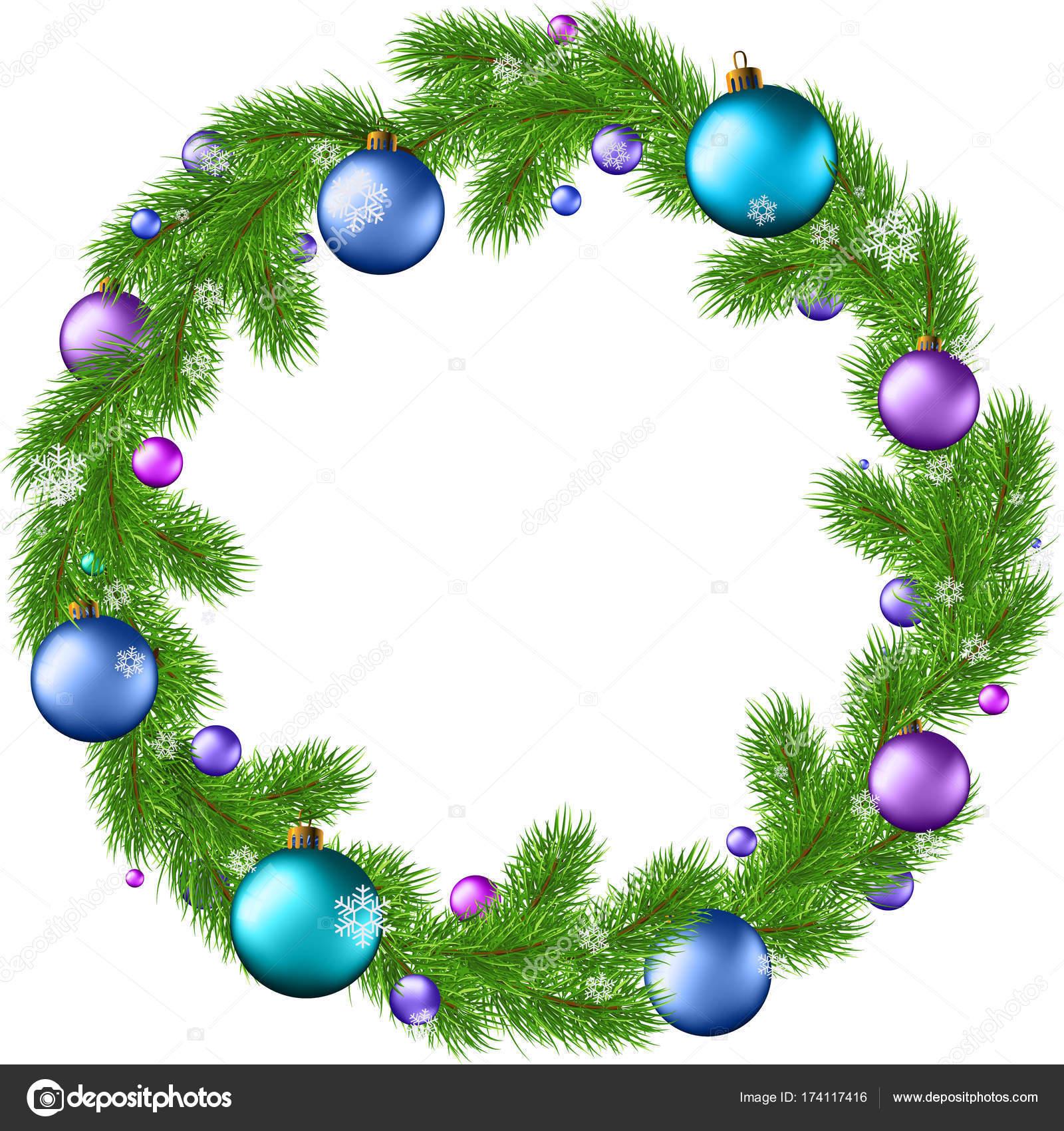 Vektor-Cliparts Kranz Weihnachten Neujahr — Stockvektor © babanova ...