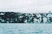 Ansicht der Eisberge in Gletscher Lagune, Island