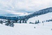 Fotografie Winterlandschaft in den Bergen.