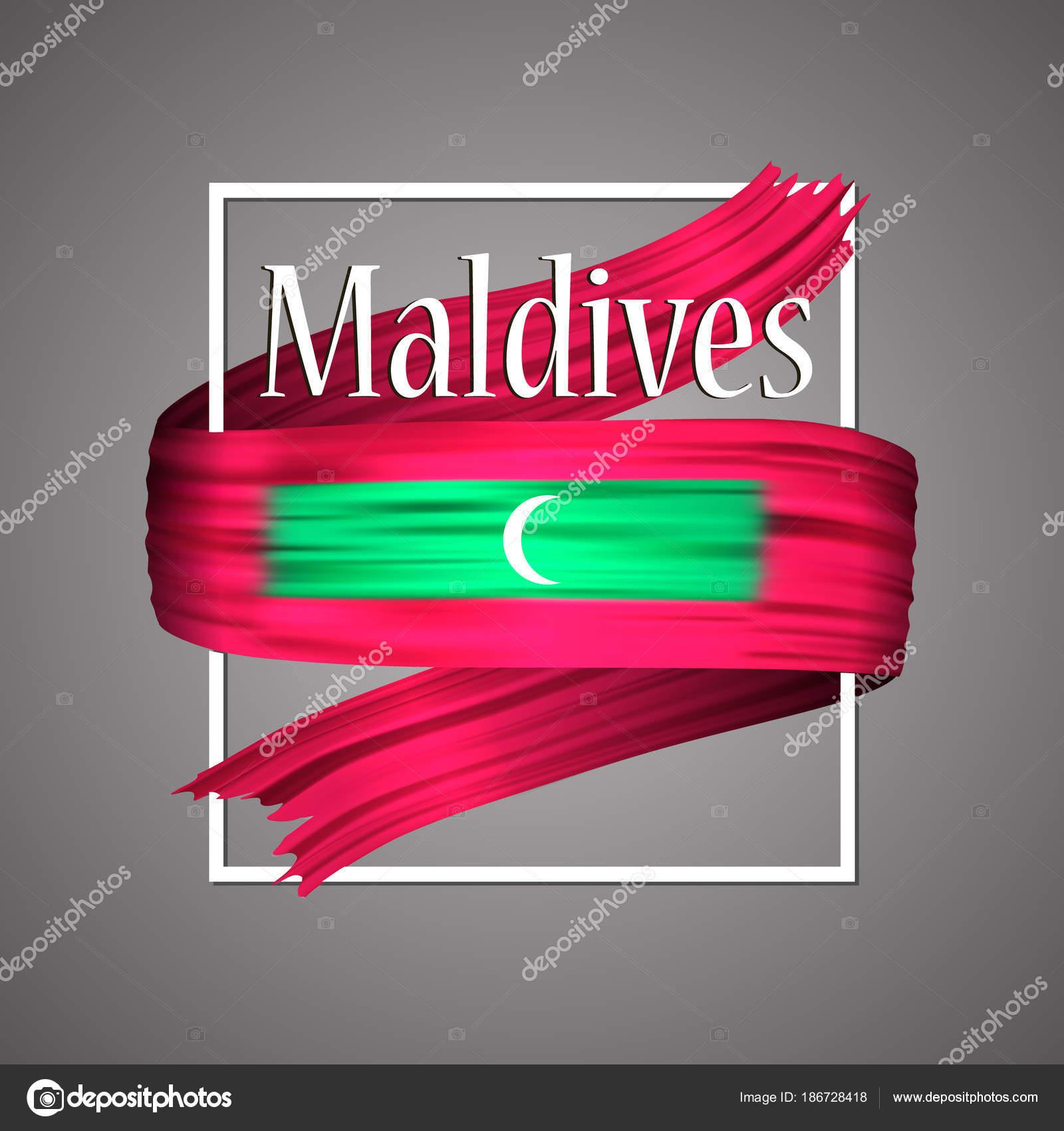 Maldives Flag Official National Colors Maldives 3d