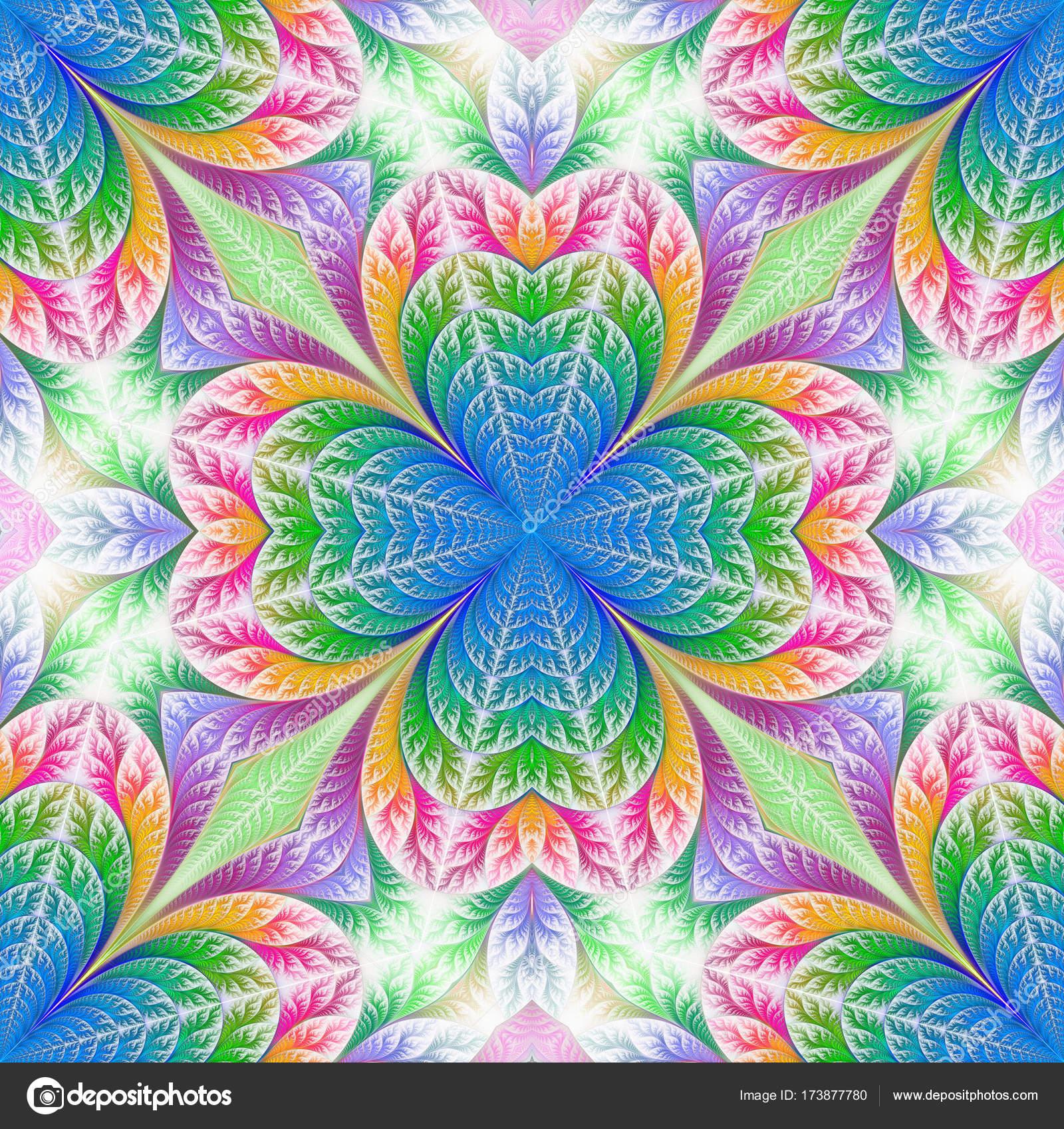 Patrón de flores de diseño fractal. Arte para el diseño creativo ...