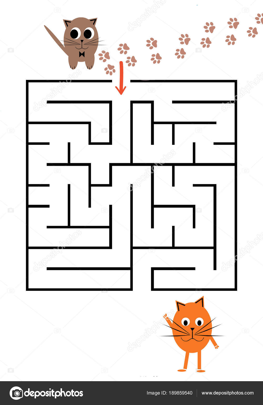 Funny maze game for Preschool Children. — Stock Photo © velirina ...