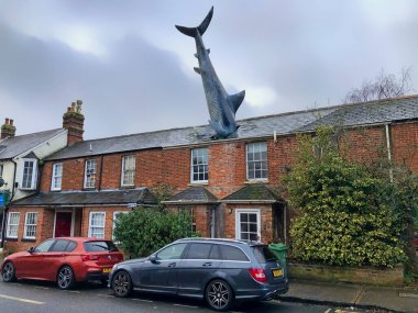 Oxford, United Kingdom - December 26, 2019:  The Headington Shark