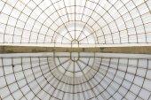 üvegházhatást okozó szimmetrikus kupola lapértelmezett vízszintes szerkezet alatt látható