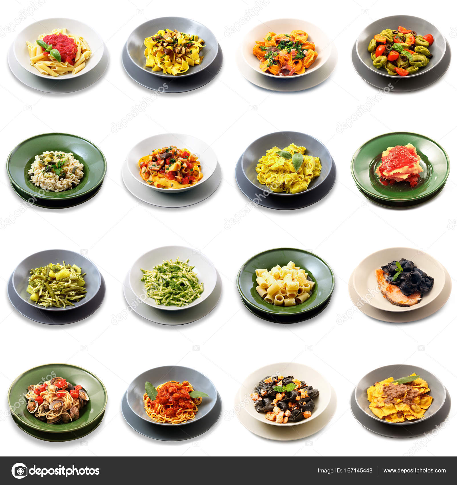 Original italienische Pasta-collage — Stockfoto © Photobeps #167145448