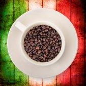 csésze kávé olasz zászló