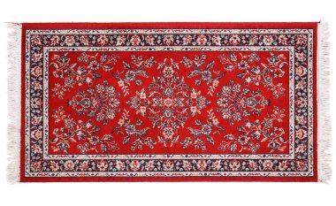 precious persian carpet on white background