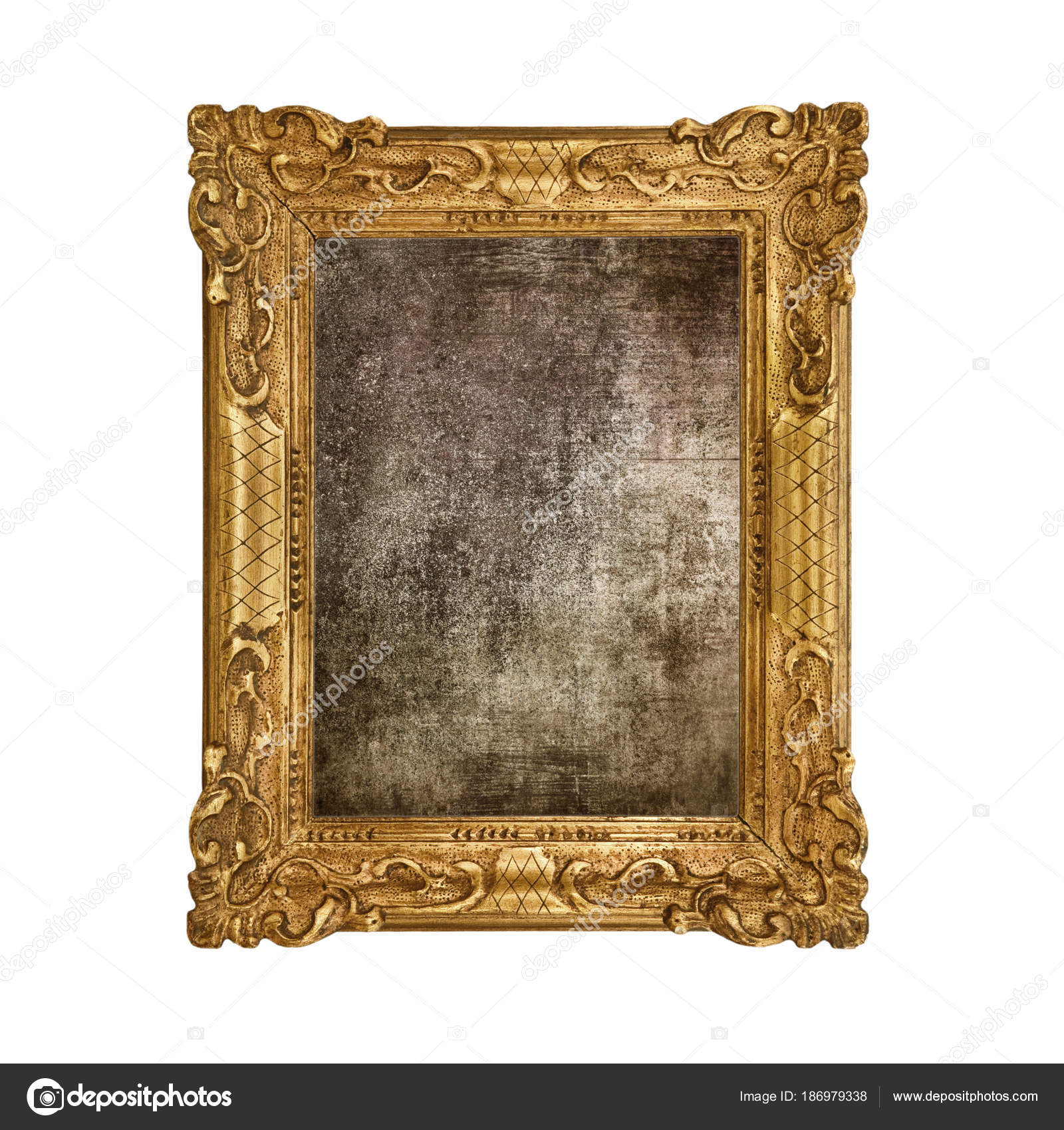 Groovy old frame in white background — Stock Photo © Photobeps #186979338 NW13