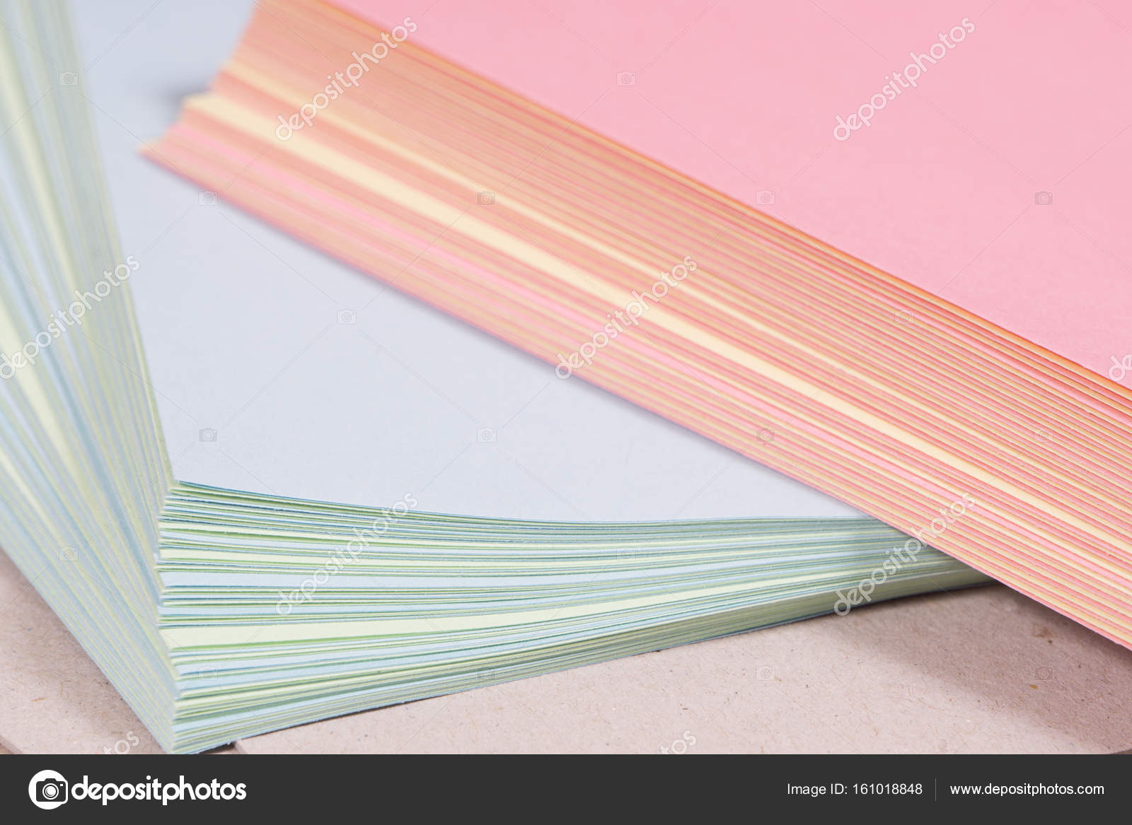 Colorful Paper Blanks For Greeting Cards And Notebooks Stock Photo