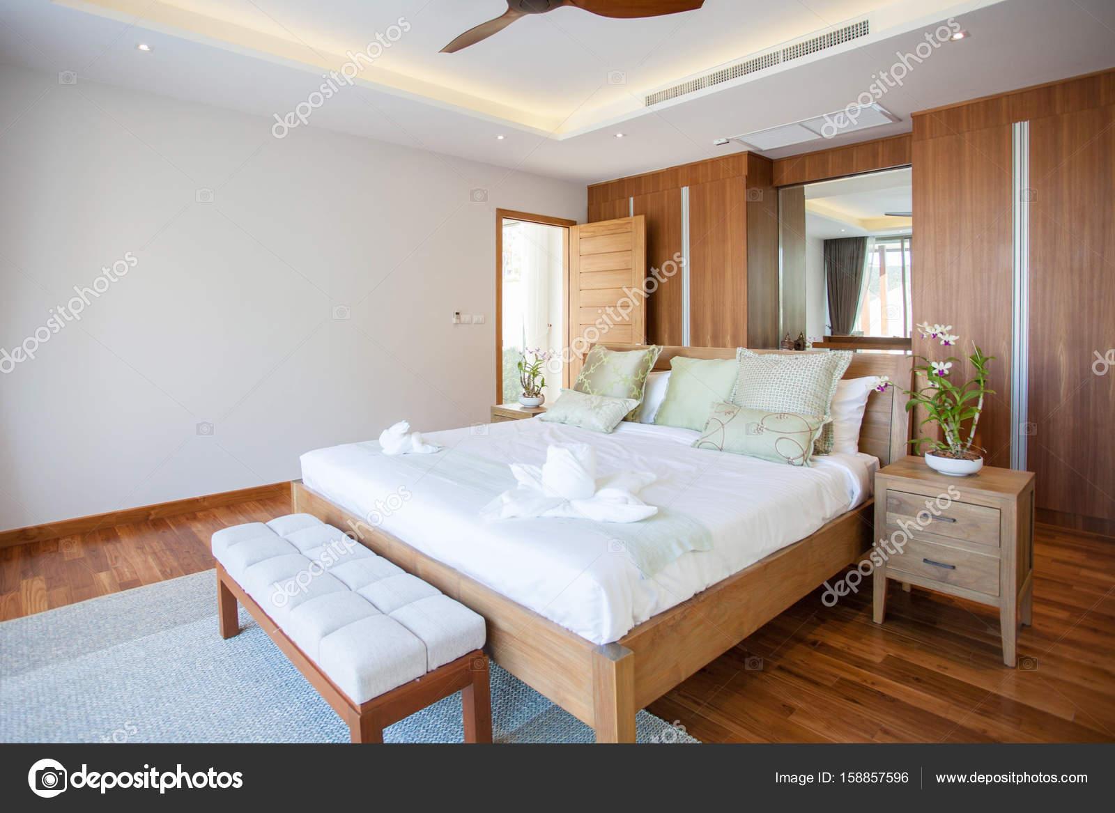 Luksusowych Wnętrz W Sypialni Willa Z Cozy King Bed