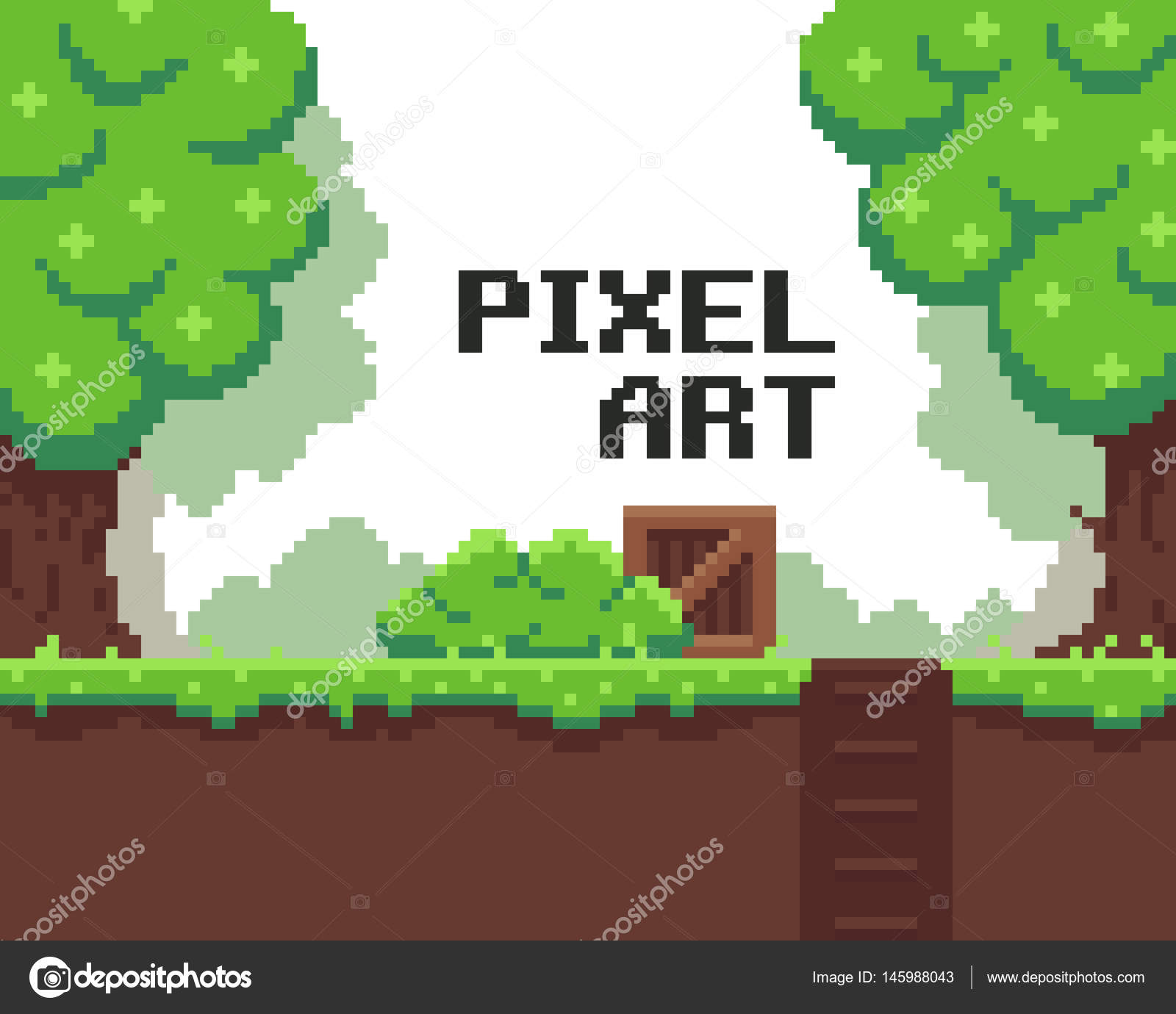 Pixel Game Background — Stock Vector © chuckchee #145988043
