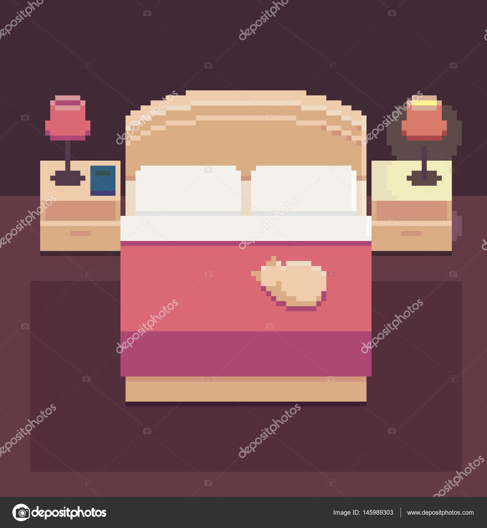 Pixel Art Chambre Image Vectorielle