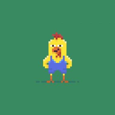 Pixel Art Rooster
