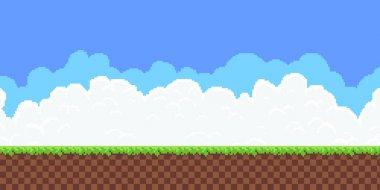 Pixel Game Background