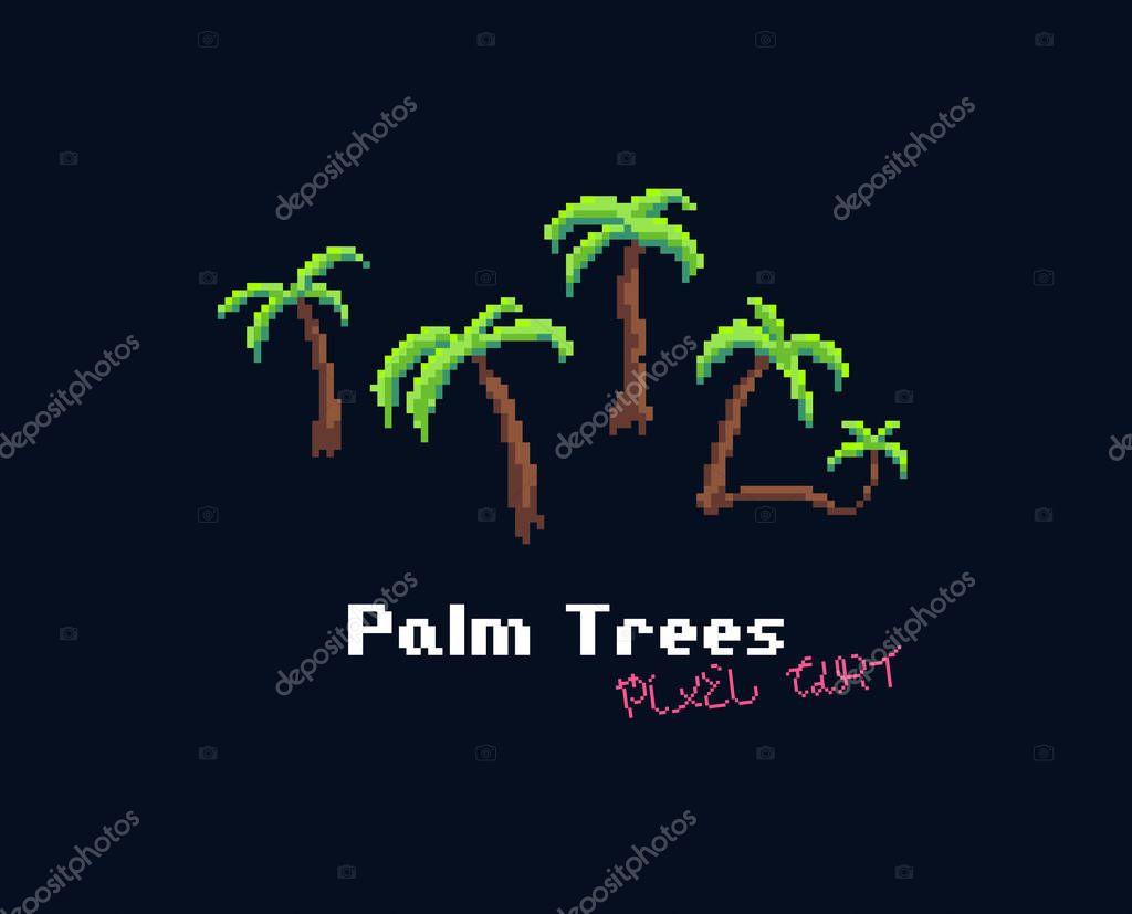 Pixel Art Palms