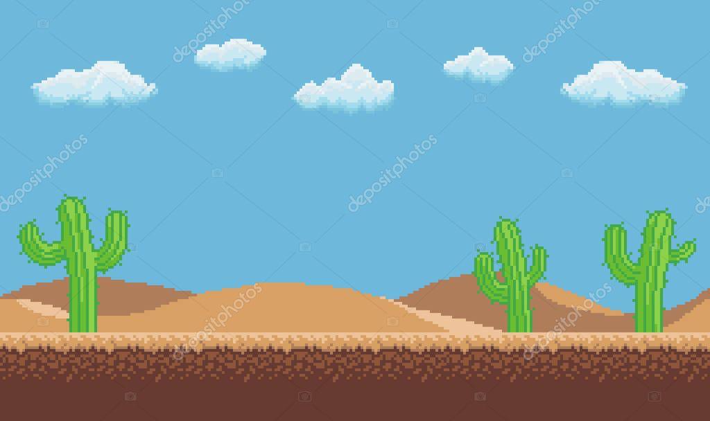 Pixel Art Desert