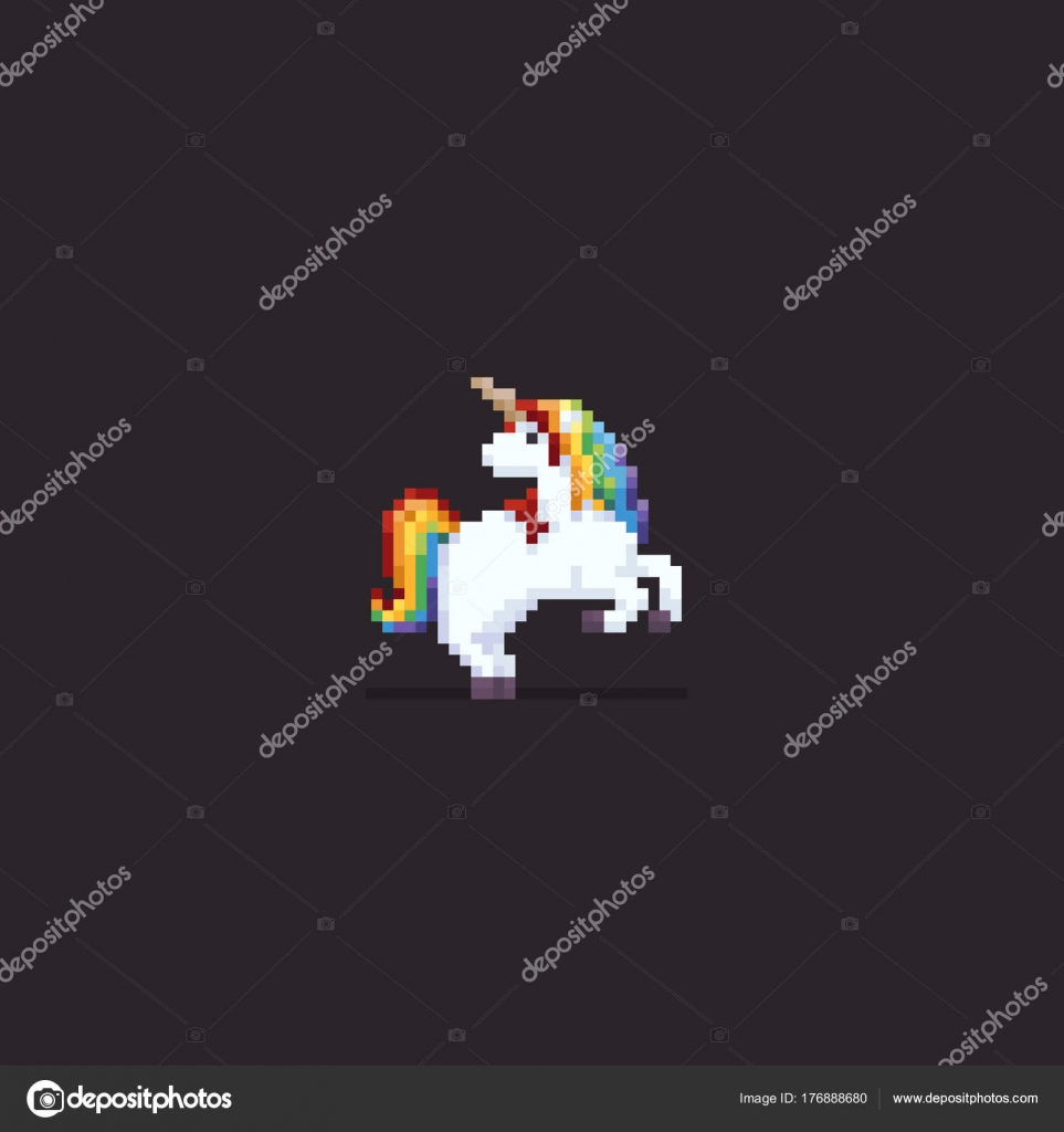 Pixel Art Licorne — Image vectorielle chuckchee © #176888680