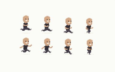 8-bit Running Man