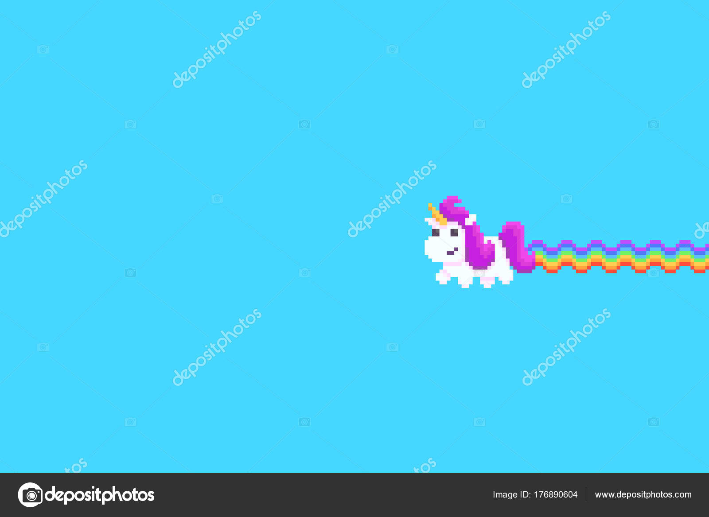 Pixel Art Licorne Image Vectorielle Chuckchee 176890604