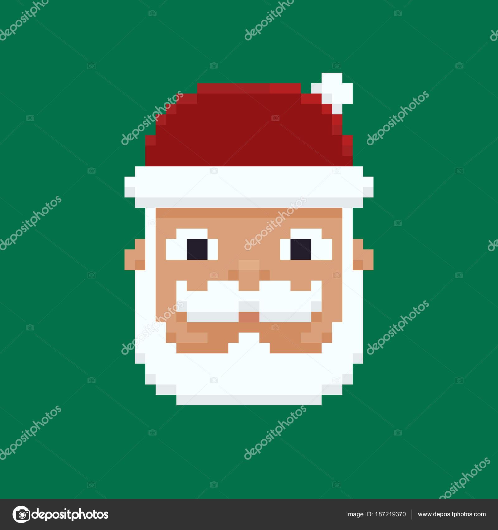 Pixel Art Santa Image Vectorielle Chuckchee 187219370