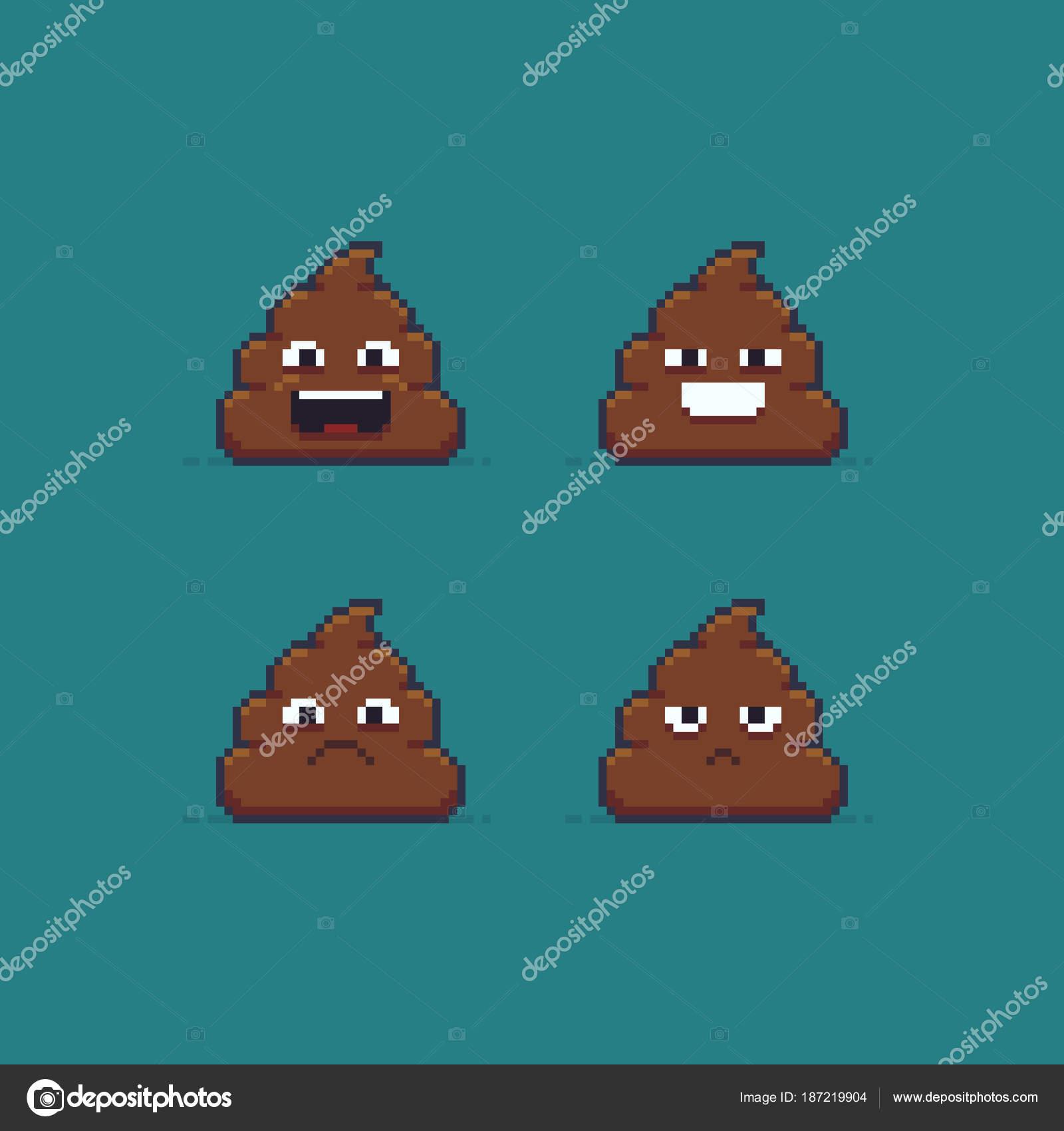 Pixel Art Emoji Caca