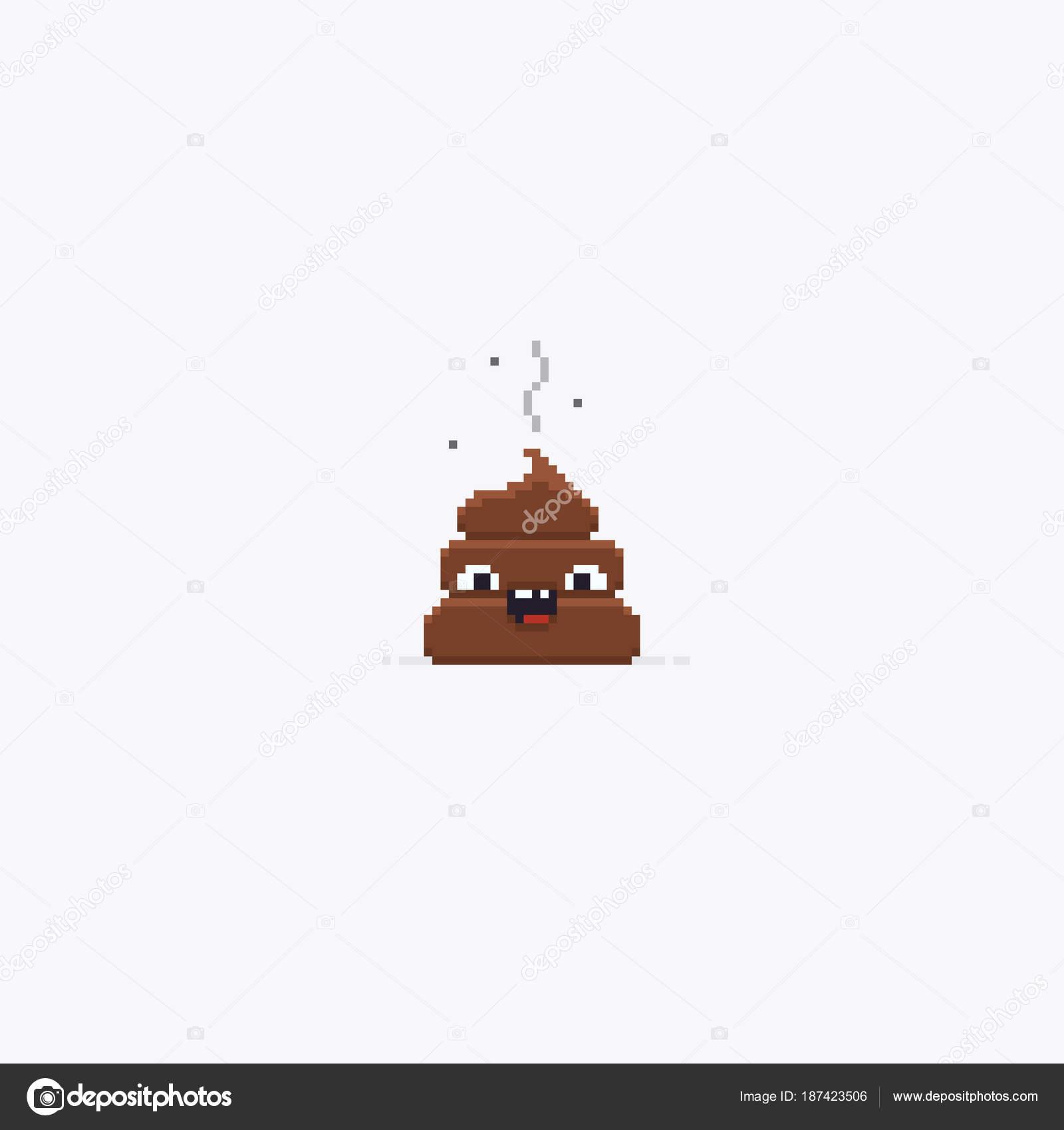 Pixel Art Poop Pixel Art Poop Stock Vector Chuckchee