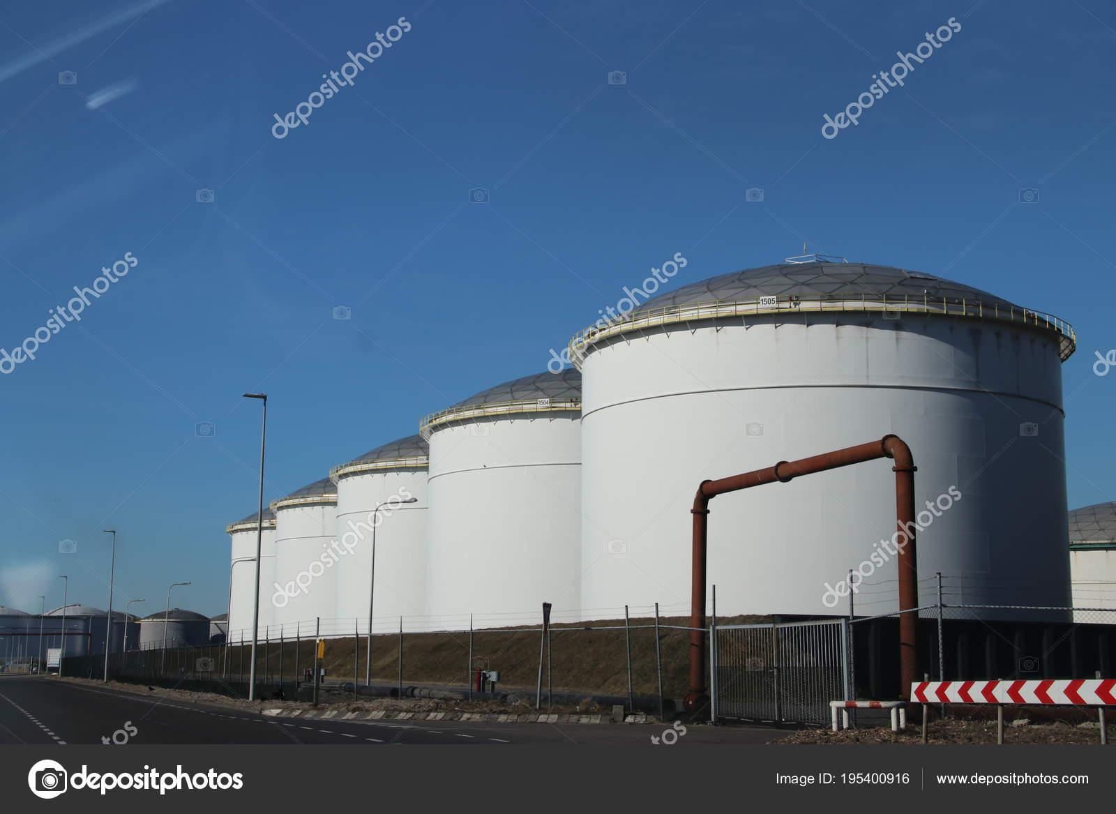 Oil Storage Tanks Port Rotterdam — Stock Photo © cakifoto