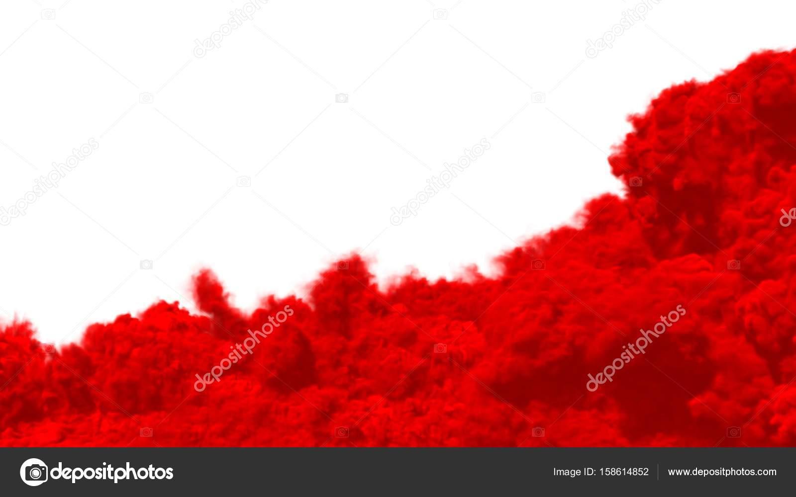 Fumo Su Sfondo Bianco Rosso Foto Stock Sergeymansurov 158614852