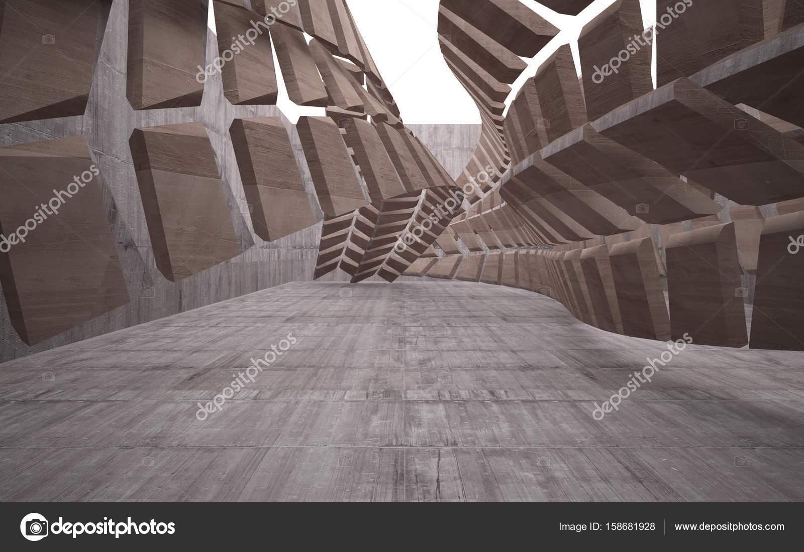 Beton In Interieur : Abstrakte interieur aus glas und beton u stockfoto