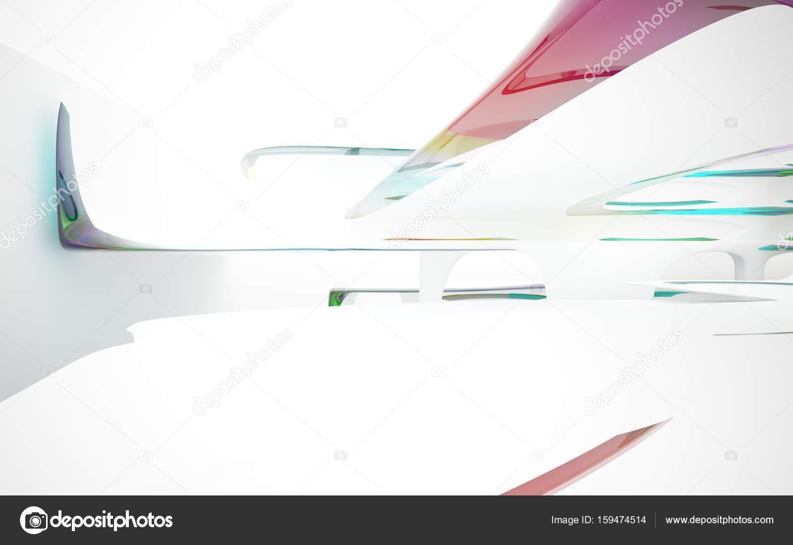 Dinámica Interior Con Objetos Lisos Foto De Stock Sergeymansurov