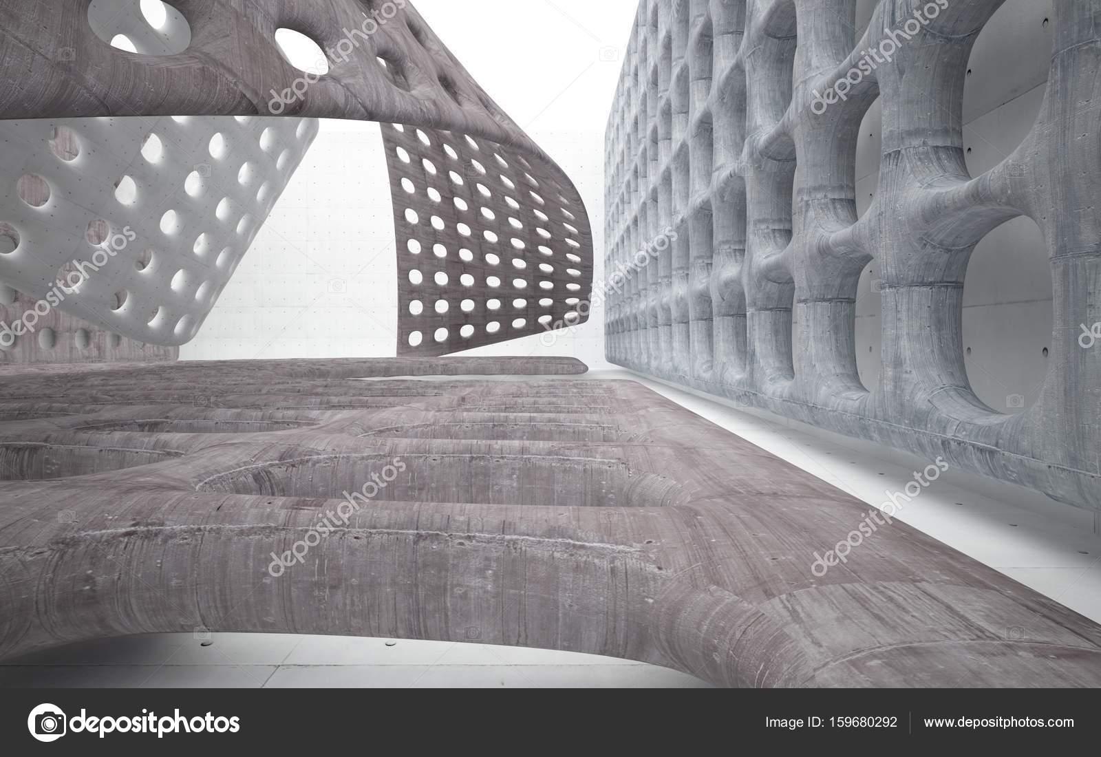 Beton In Interieur : Béton intérieur avec des objets lisses u2014 photographie sergeymansurov