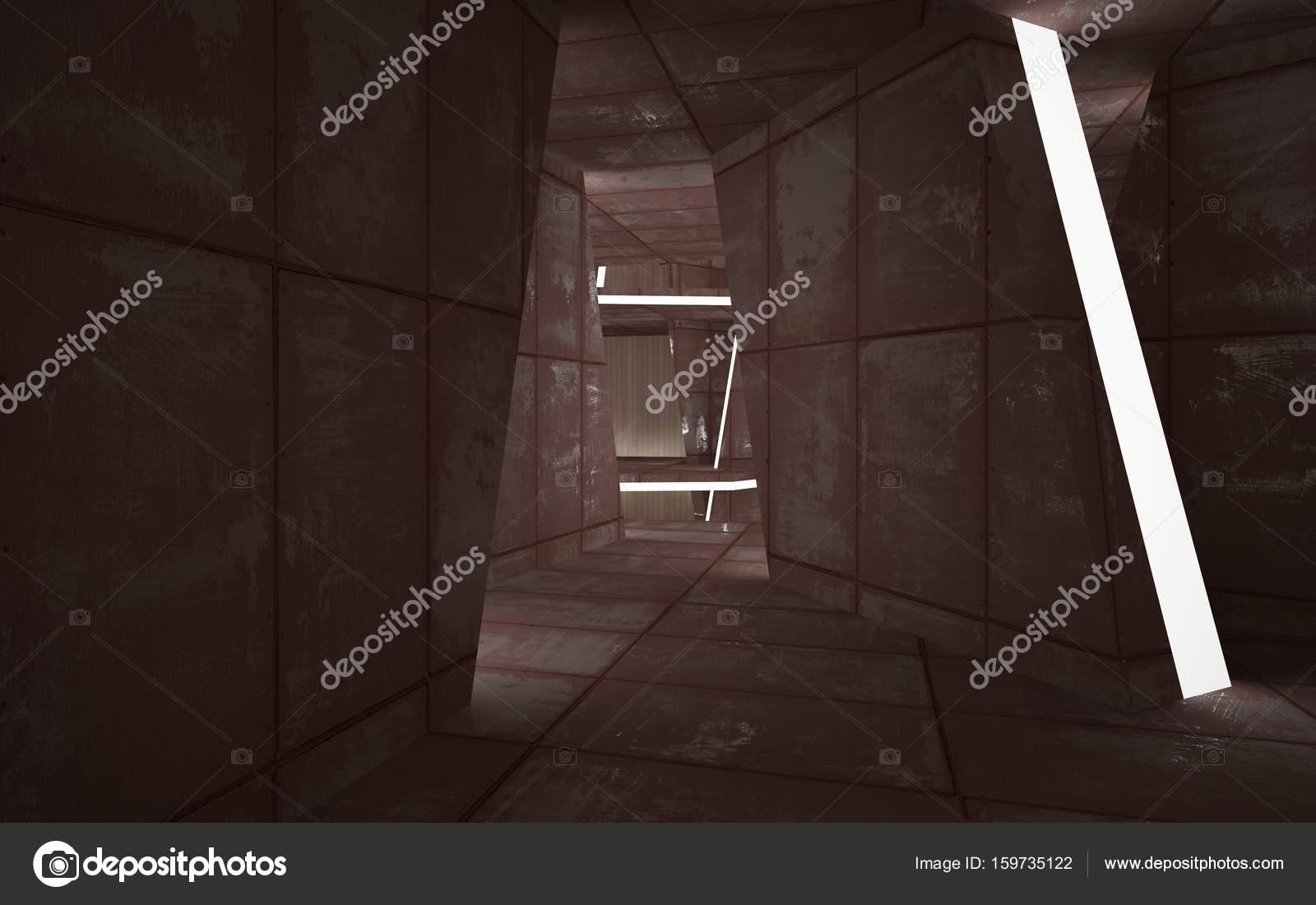 Interior liso de cuarto oscuro vacío — Foto de stock ...
