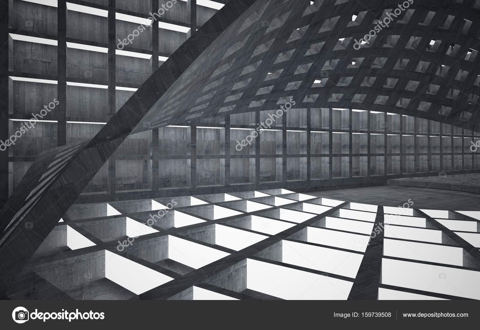 donkere interieur van metaal en beton — Stockfoto © sergeymansurov ...