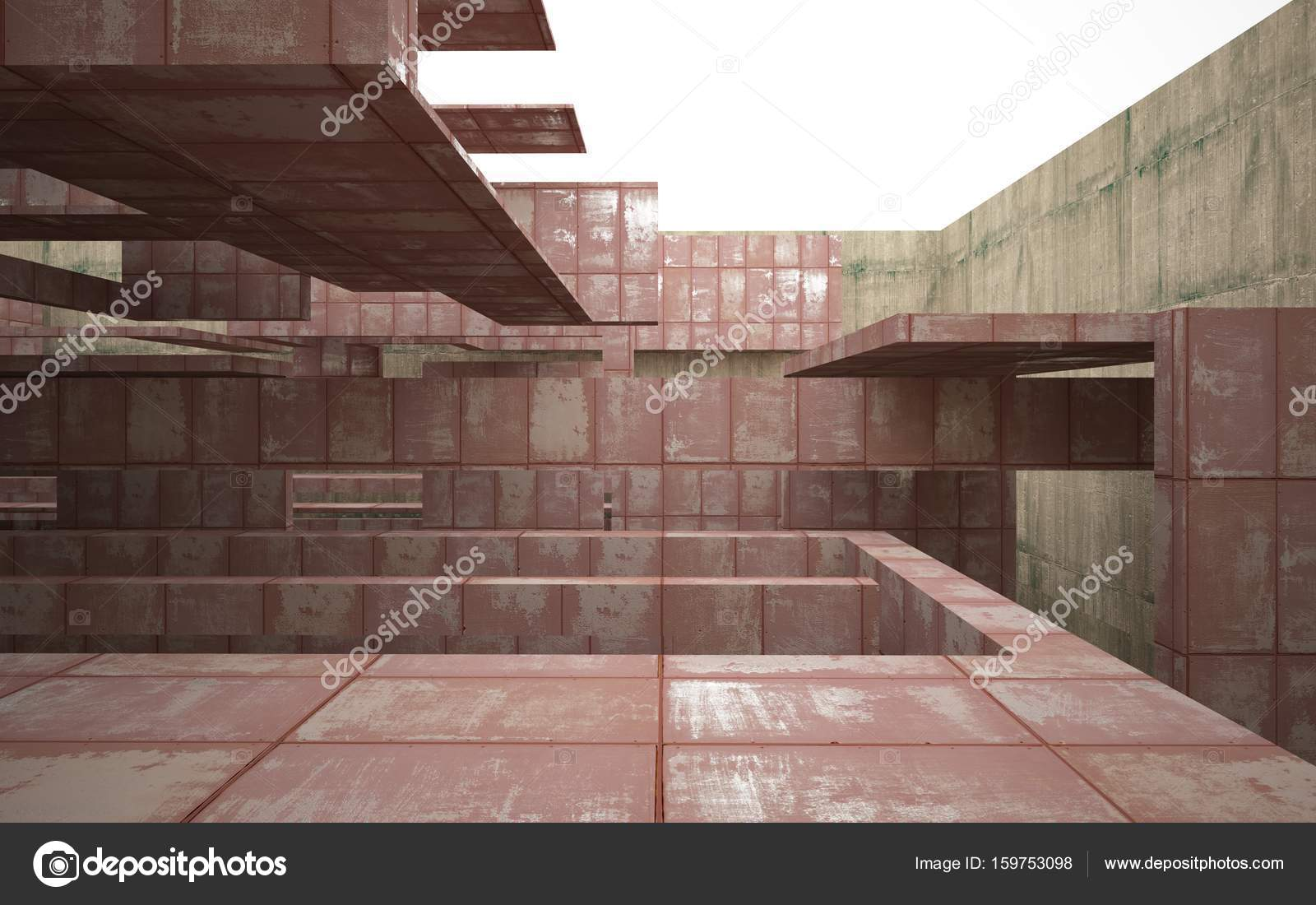 interieur van metalen en bruin beton — Stockfoto © sergeymansurov ...
