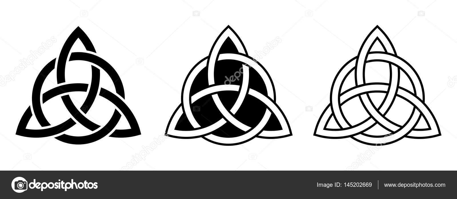 Nudos de la Trinidad celta. Ilustración de vector — Archivo Imágenes ...