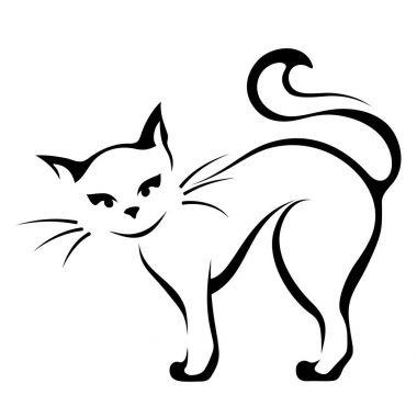 Vector illustration of a cat.