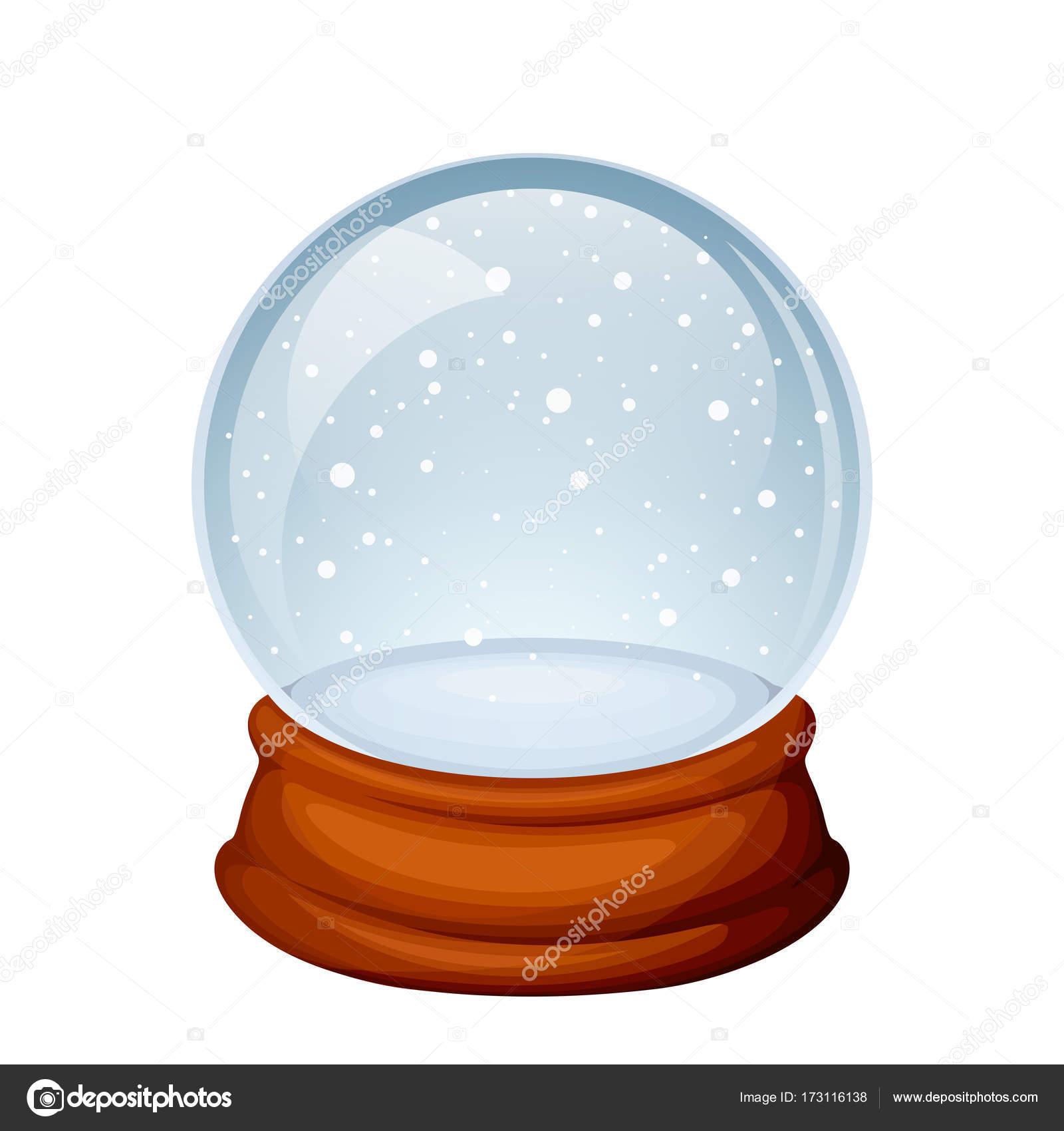 Glas Weihnachten Schneekugel. Vektor-illustration — Stockvektor ...