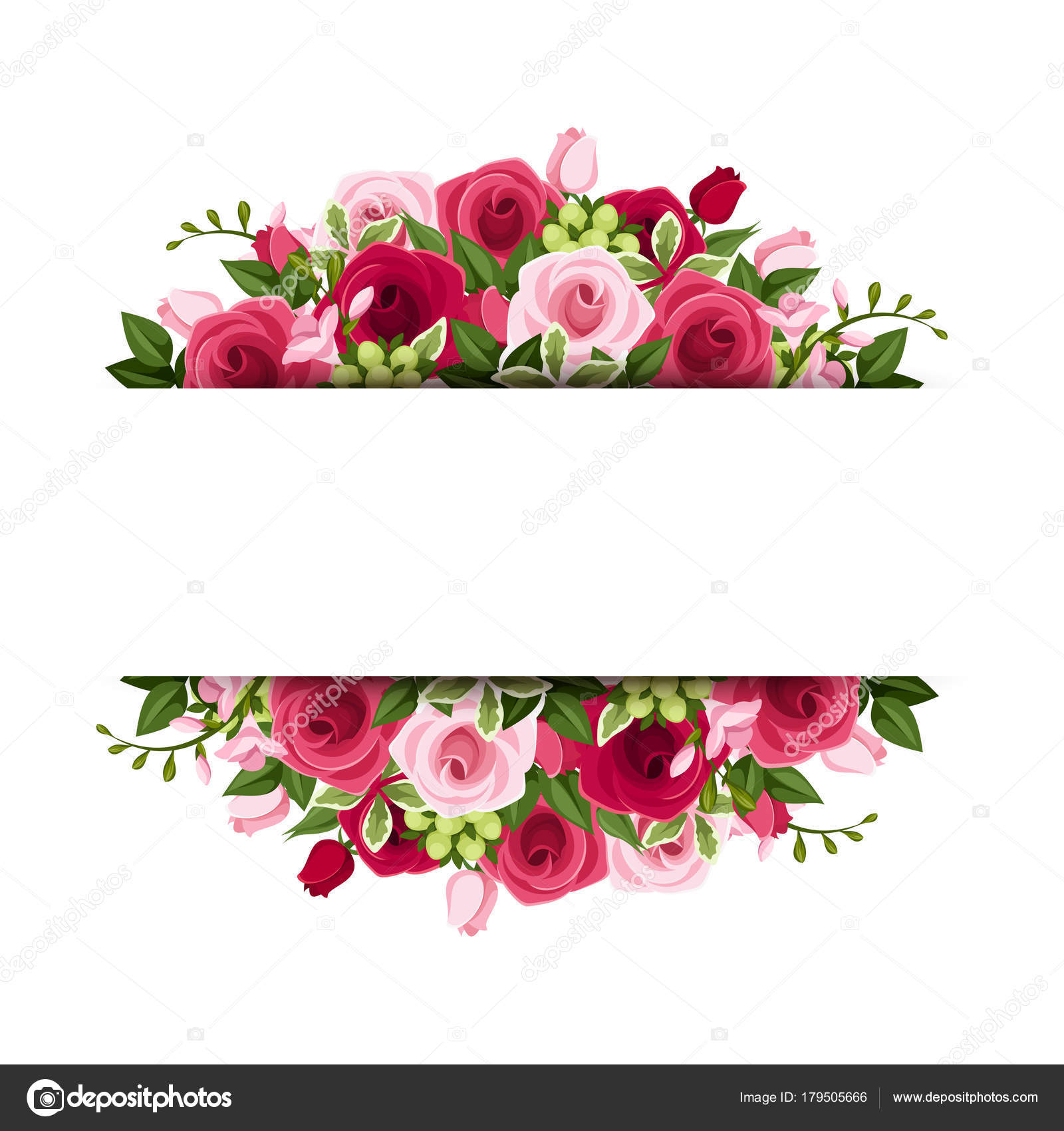 banner vetor com rosas vermelhas cor rosa fr u00e9sia flores vector rose pattern vector rose border