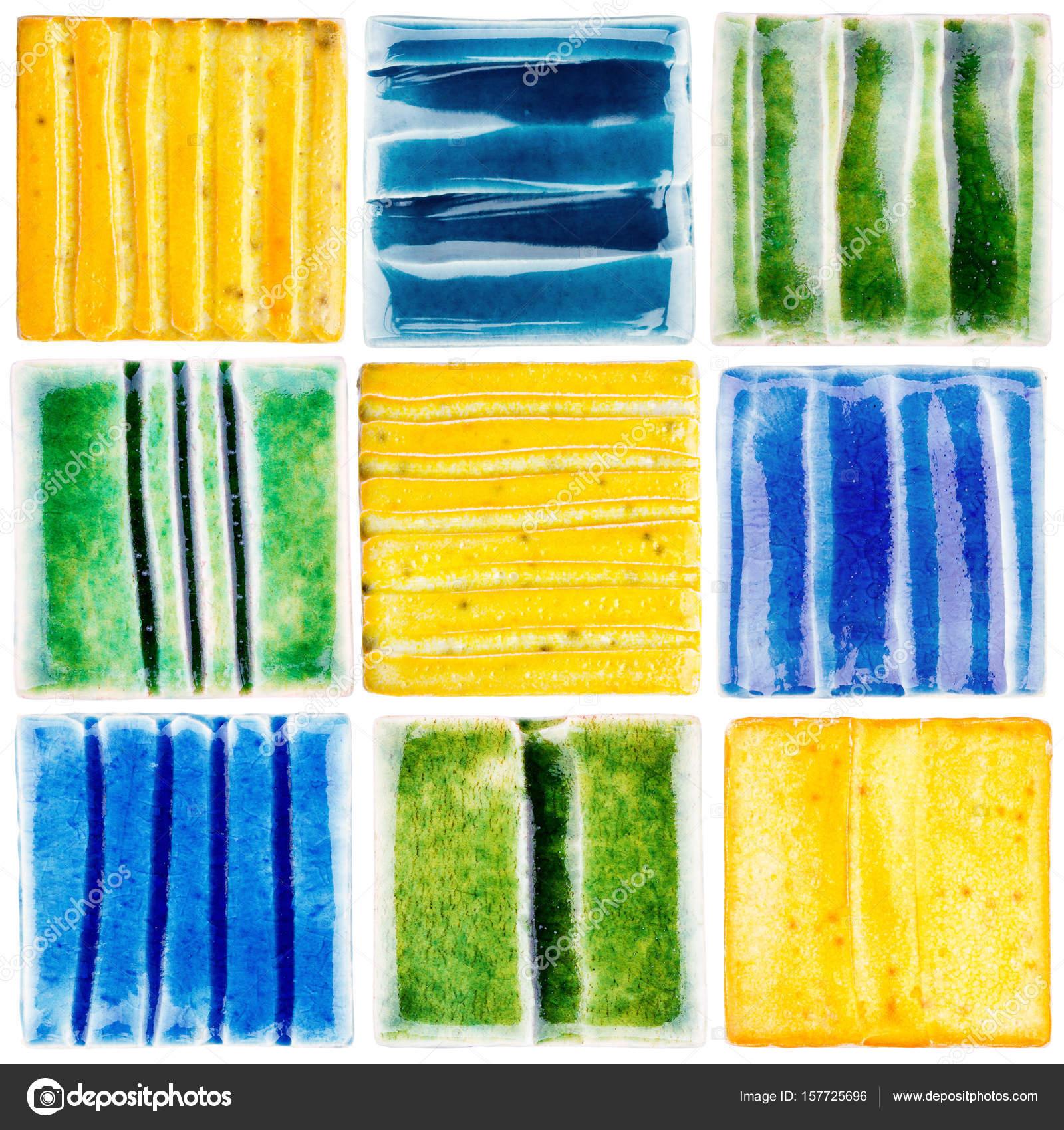 Collection of handmade glazed ceramic tiles stock photo taigi collection of handmade glazed ceramic tiles stock photo dailygadgetfo Choice Image