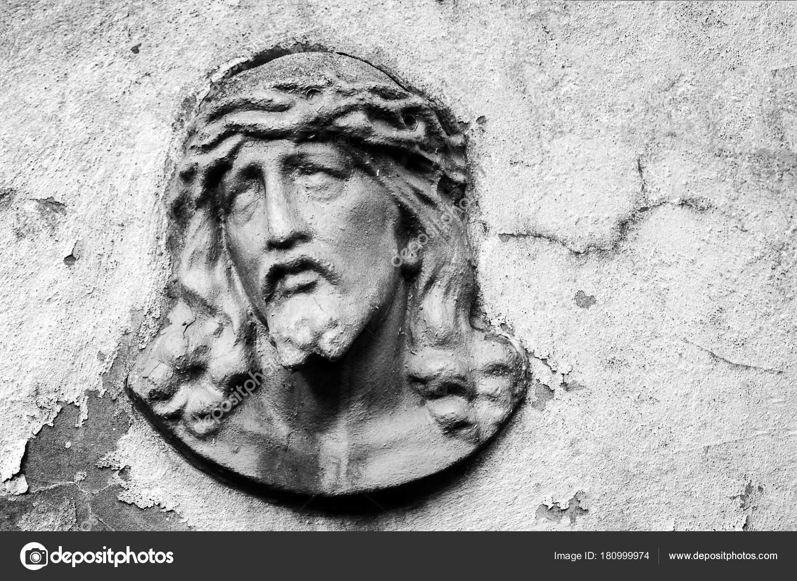 Imágenes Jesucristo En Blanco Y Negro Rostro De Jesucristo En Una